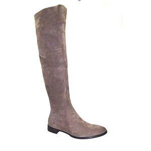 Women's Italian knee high suede boots